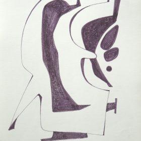 1976.1. Forma abstracta. 33x24 cm. Rotulador negro. 1976