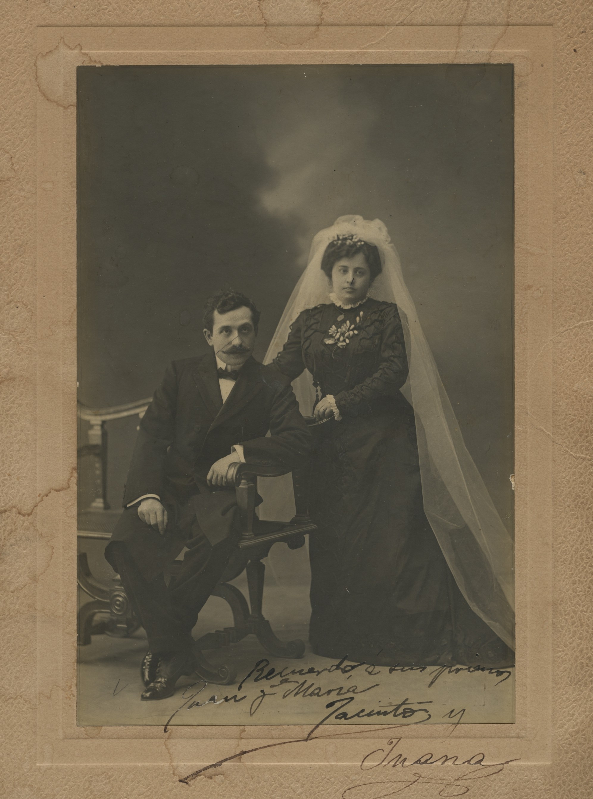1909. Boda de Jacinto Higueras Fuentes con Juana Cátedra Segura