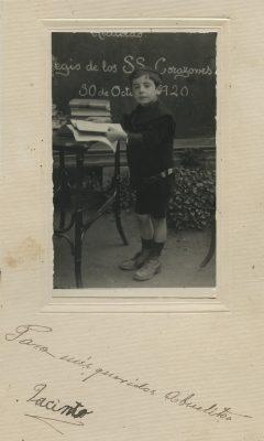 1920. en el Colegio de los Sagrados Corazones