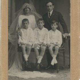 1922 Jacinto Higueras en la boda de su padre
