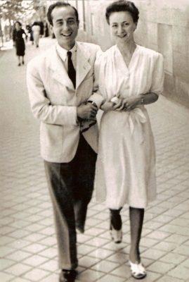 1941.1. JHC junto a su futura mujer, Ana Mª Rodríguez Aragón, Madrid verano 1941