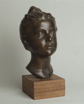 1950.1. Cabeza de su hija Lola, Bronce, 31x17x22 cms. 1950