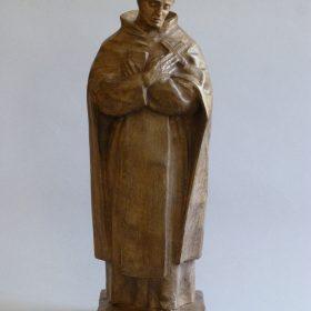 1955.1. San Juan de la Cruz, resina con patina de madera, 42x16x12 cms. Boceto para un Monumento en Santisteban del Puerto, Jaén. 1955