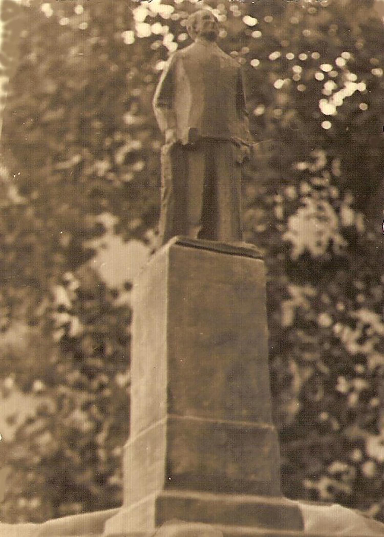1957.2. Boceto Monumento Jacinto Higueras Fuentes. Santisteban del Puerto, Jaén. 1957