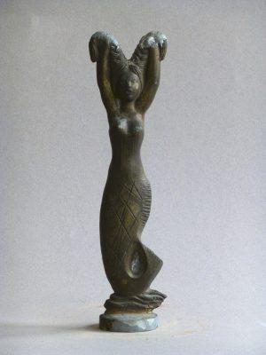 1959.1. Sirena, Trofeo, bronce, 24x05x02 cms. Festival Español de la Canción de Benidorm. Radio España Madrid, REM. 1959
