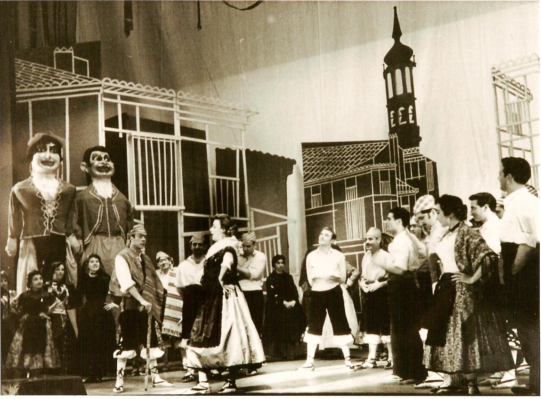 1959.2. Gigantes y Cabezudos, de Caballero. Dirección escénica y nuevo montaje de JHC.Teatro de la Zarzuela, Madrid. Junio 1959