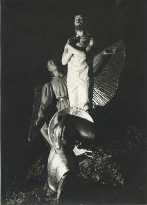 1960.3. Resucitado, Paso procesional con 3 figuras. Madera policromada, gran formato. Santisteban del Puerto, Jaén. 1960