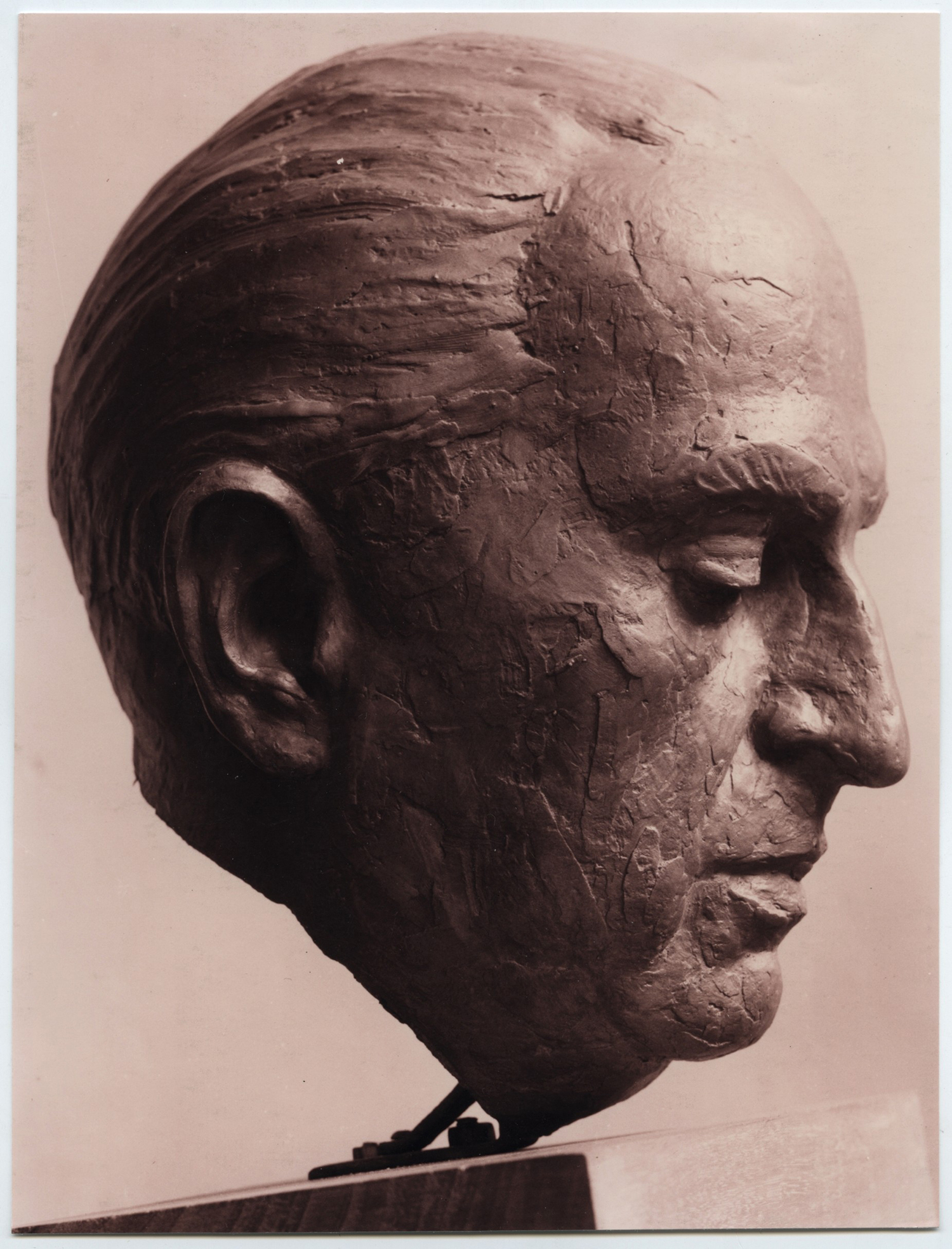 1961.4. Cabeza del doctor Gregorio Marañón, bronce, 43x27x28 cms. Hospital Gregorio Marañón de Madrid. 1961