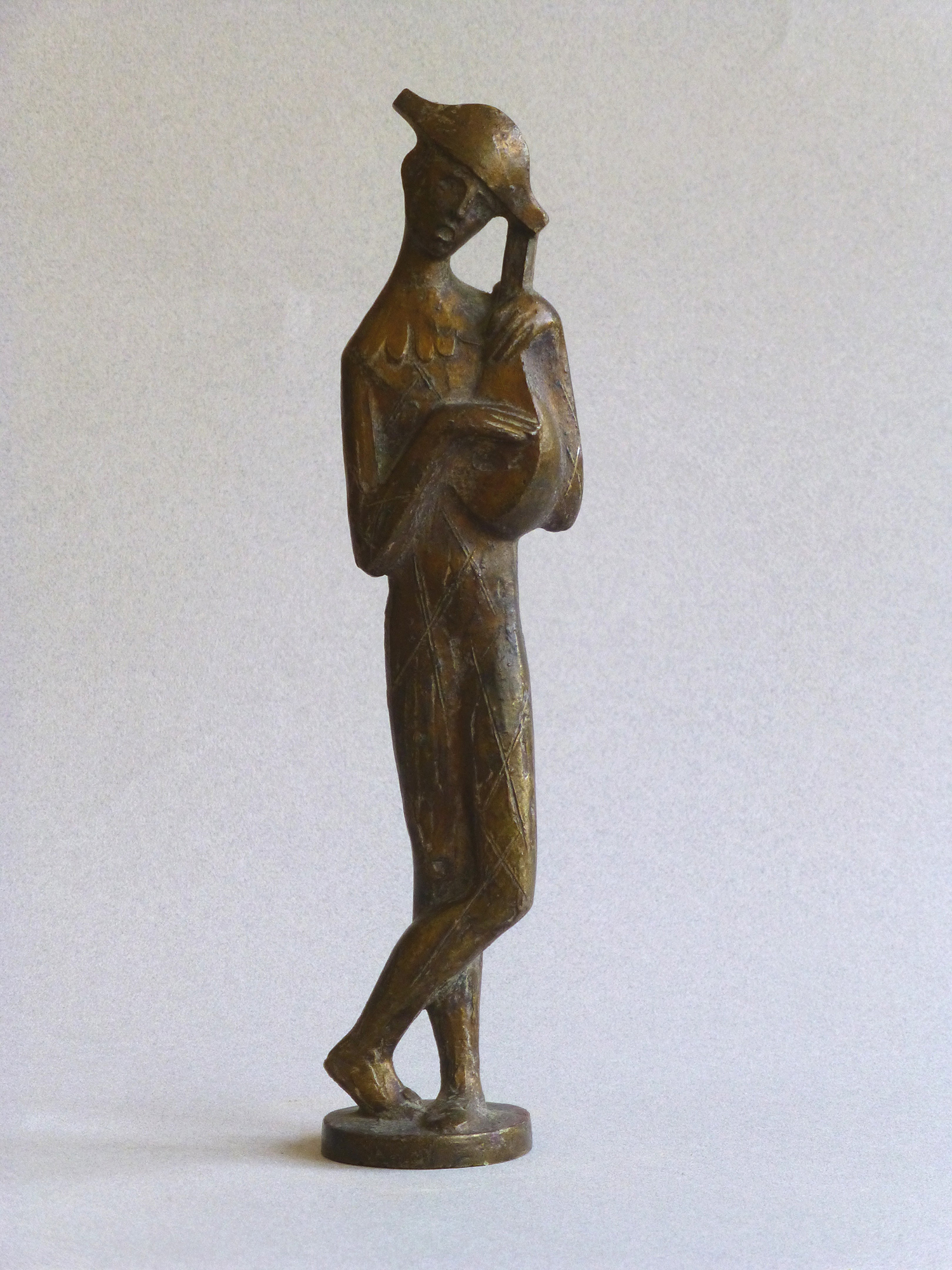 1965. Arlequín, trofeo, bronce, 23x5x3 cms. Premios Imperator de Oro. Sala de Fiestas Imperator, Madrid. 1965