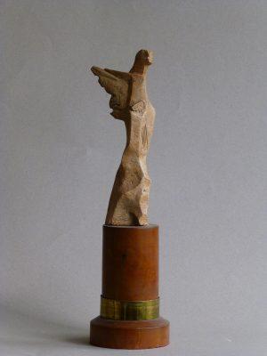 "1967.1. Victoria, Trofeo, bronce, 23x5x9 cms. , Programa de R.N.E. ""Misión Rescate"". 1967"