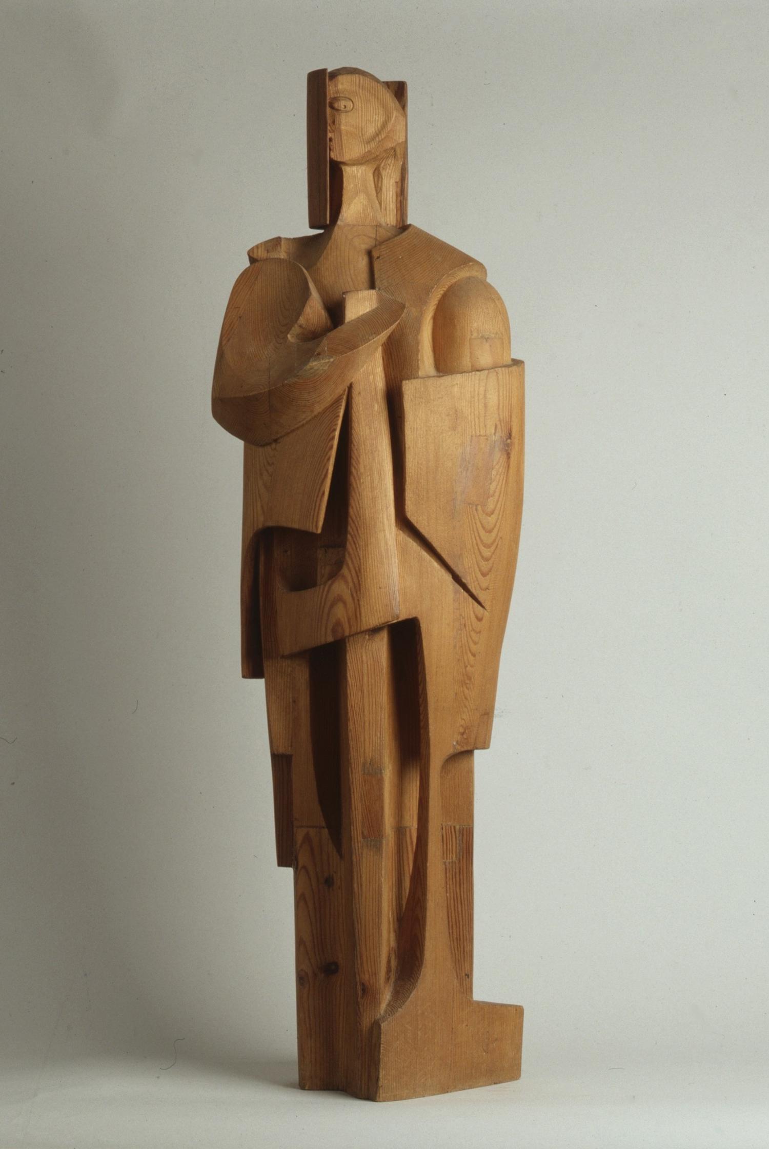 1967.4. Hombrarium, madera, talla directa, 106x33x23 cms. 1967