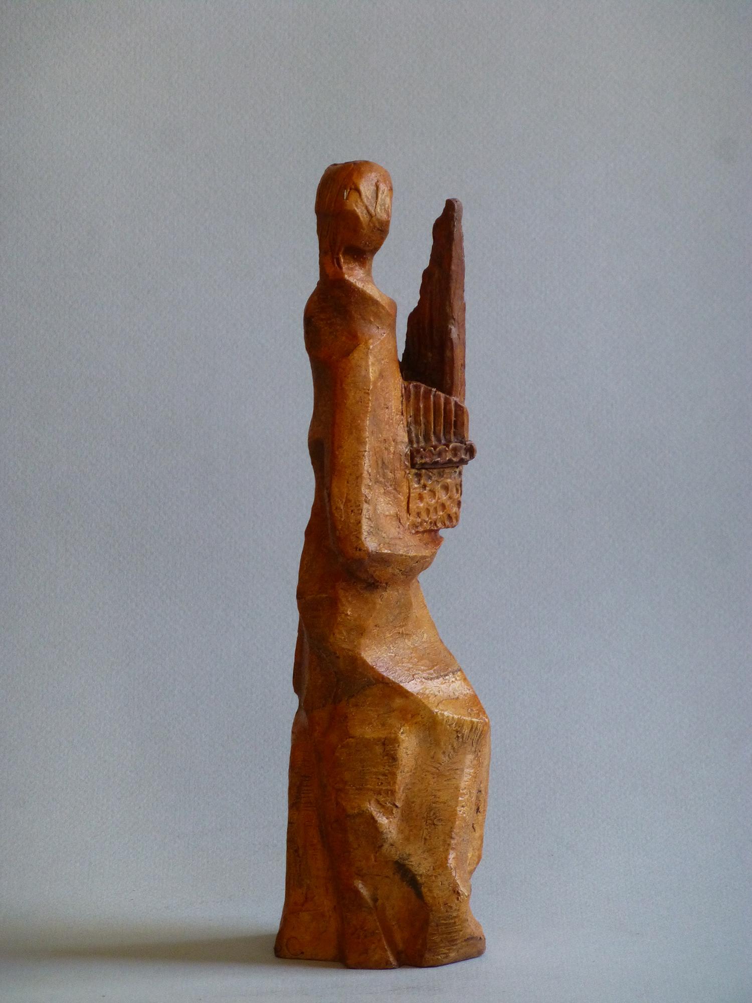 1968.1. A la Música, trofeo, bronce, 24x7x6 cms. 1º Concurso Interpretación Musical. R.N.E. 1968
