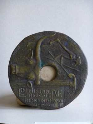 1968.3. Medalla Misión Rescate, Mención de Honor, bronce. R.N.E. y T.V.E. 1968