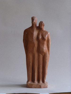 1968.5. La Familia, Grupo, barro cocido, parte anterior. 1968