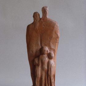 1968.6. La Familia, Grupo, barro cocido, parte posterior. 1968
