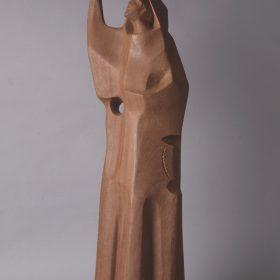 1969.4. San Francisco de Asís, madera, 97x31x30 cms. Proyecto de escultura habitable. 1969