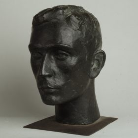 1969.5. Cabeza de Horacio Rodríguez Aragón, bronce, 33x24x29 cms. 1969