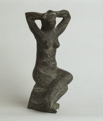 1969.7. Mujer sentada, Bronce, 28x11x10 cms. 1969