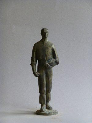 1970.1. El Sembrador, Trofeo, bronce, 24x8,5x7 cms. Para planteles en la VIII Feria Internacional del Campo
