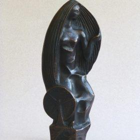 1970.2. Xiana, trofeo, bronce, 22x9x4 cms. Para regalos a cargos y visitas de R.N.E. 1970