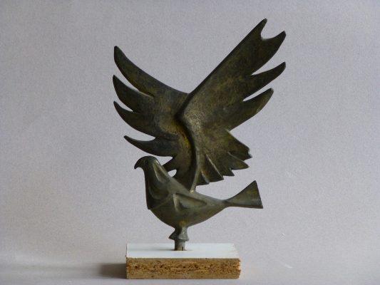 1971.4. Paloma de La Paz, trofeo, bronce. Festival de la Canción de la Paz. La Voz de Valladolid, Radio Cadena Española y REM. 1971