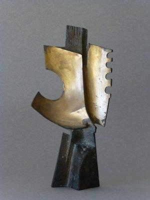 1972.2. Semáforo espacial, bronce, 25x12,5x5,5 cms.. 1972