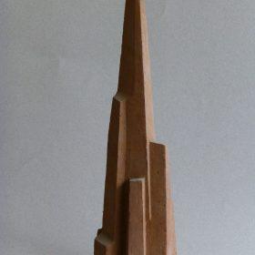 1976.3. Monumento Iglesia, barro rojo, 35x11x12 cms. 1976