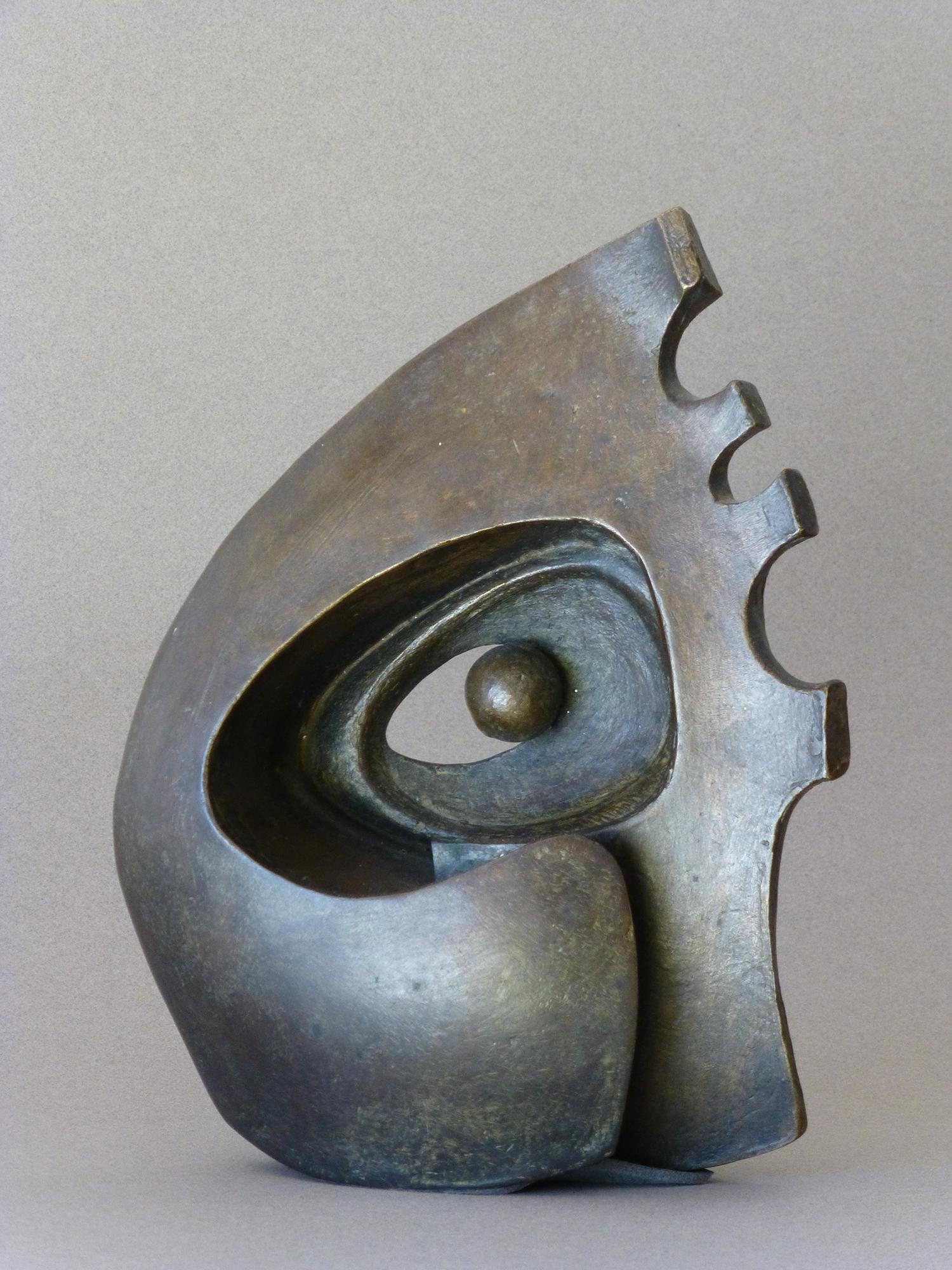 1976.8. Forma con bola, bronce, 25x20x08 cms. 1976