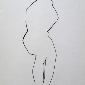 1977.10. Desnudo. 31x21 cm. Rotulador negro.