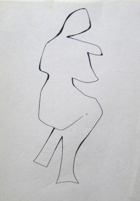 1977.11. Desnudo. 31x21 cm. Rotulador negro.