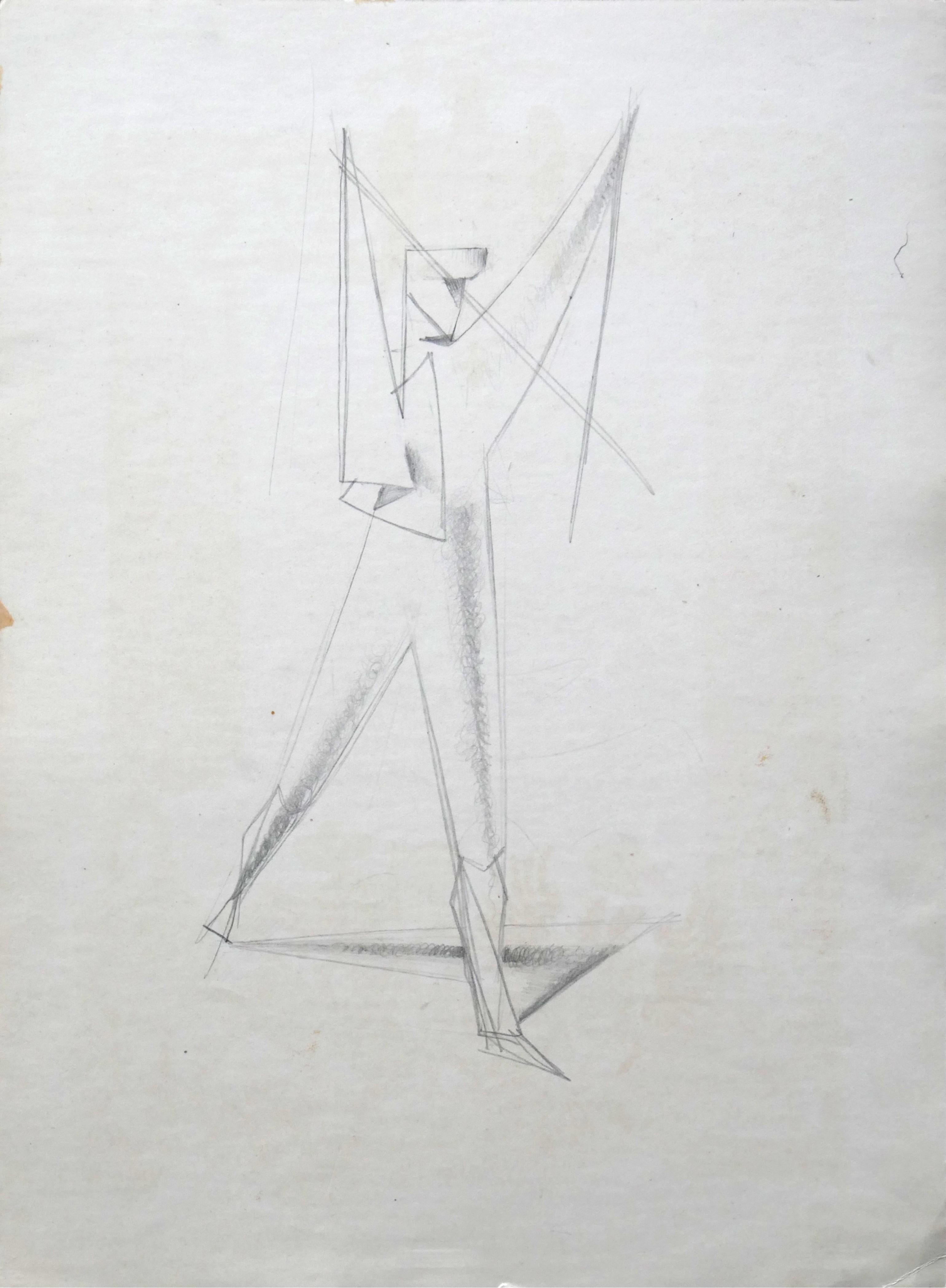 1977.12. Torero. 32x23 cm. Lápiz con sombreado.