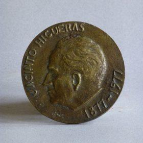 1977.2. Medalla Centenario Jacinto Higueras Fuentes, bronce. 1977