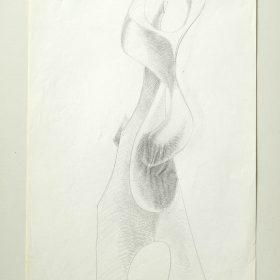 1977.4. Forma. 31x21 cm. Lápiz con sombreado.