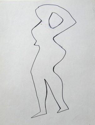 1977.9. Desnudo. 31x21 cm. Rotulador.