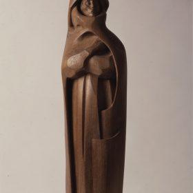 1981.1. Dante, madera, talla directa, 50x16x11 cms. 1981