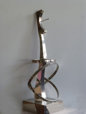 1981.2. Forma Monumental en Aluminio, aluminio, 81x31x26 cms. Boceto grande en aluminio para un proyecto de TVE. 1981