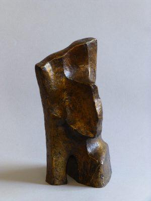 1981.3. Forma transitable, bronce, 25x12x13 cms. Boceto para autopista. 1981