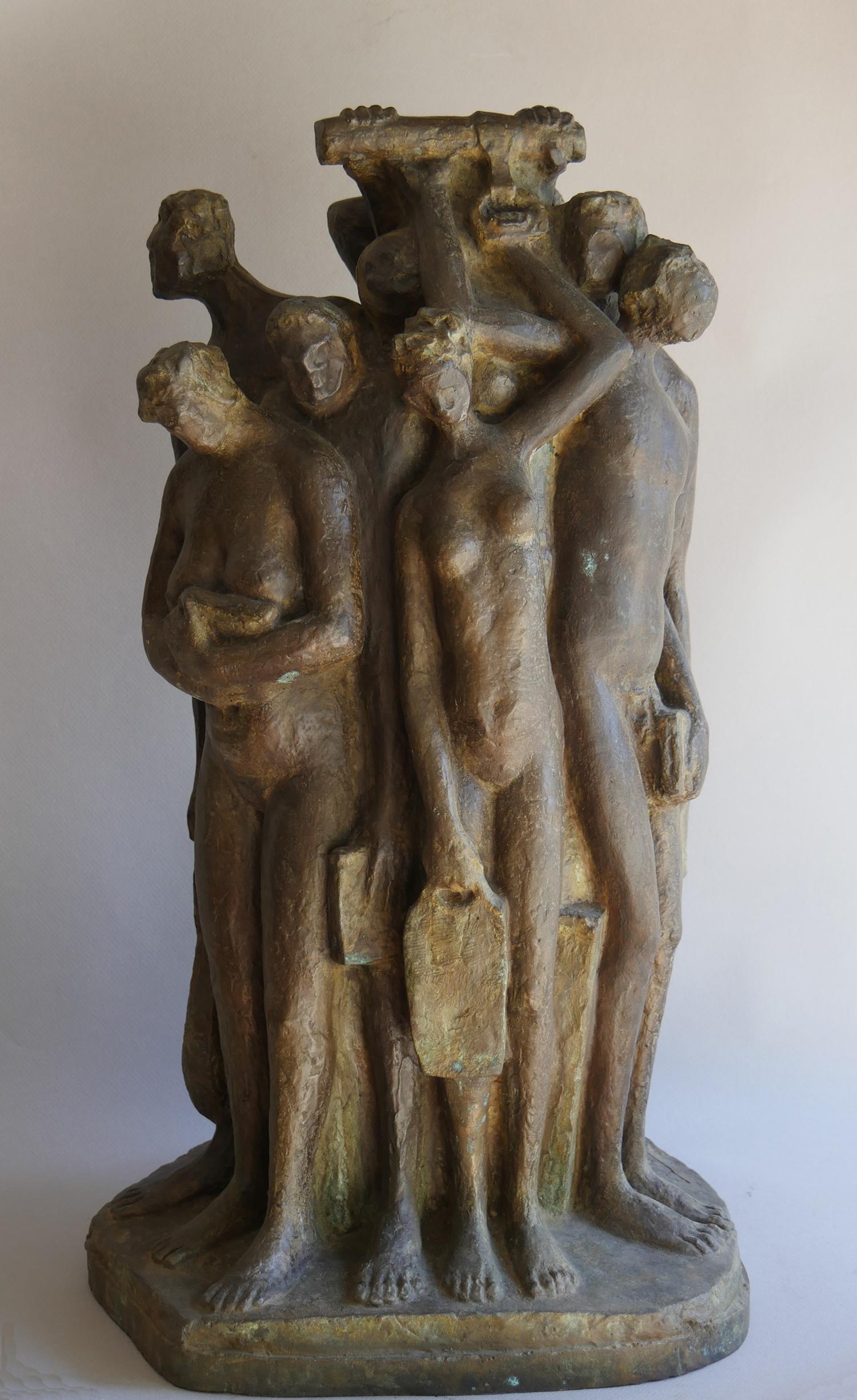 1984.1. Cuerda de Presos, bronce, 60x33x33 cms.1984