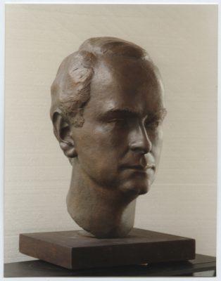 1985.1. Cabeza del arquitecto Antonio Espinosa, Bronce, 41x26x31 cms. 1985