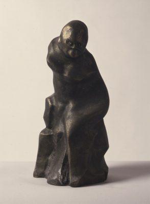 1986.2. Mono Sapiens, bronce, 28x15x13 cms. 1986