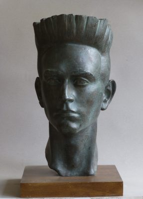 1991, Busto de su nieto Jaime del Val, bronce, mayor del natural, 45x24x25 cm.1991