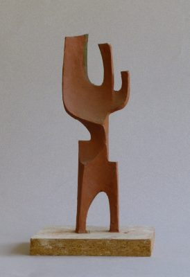 1996.2. Forma, Cactus, Múltiple, Plastilina roja sobre metal, 23,05x7,8x3 cms.