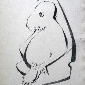1997.2. Mono. 41x33 cm. Carboncillo. 1998