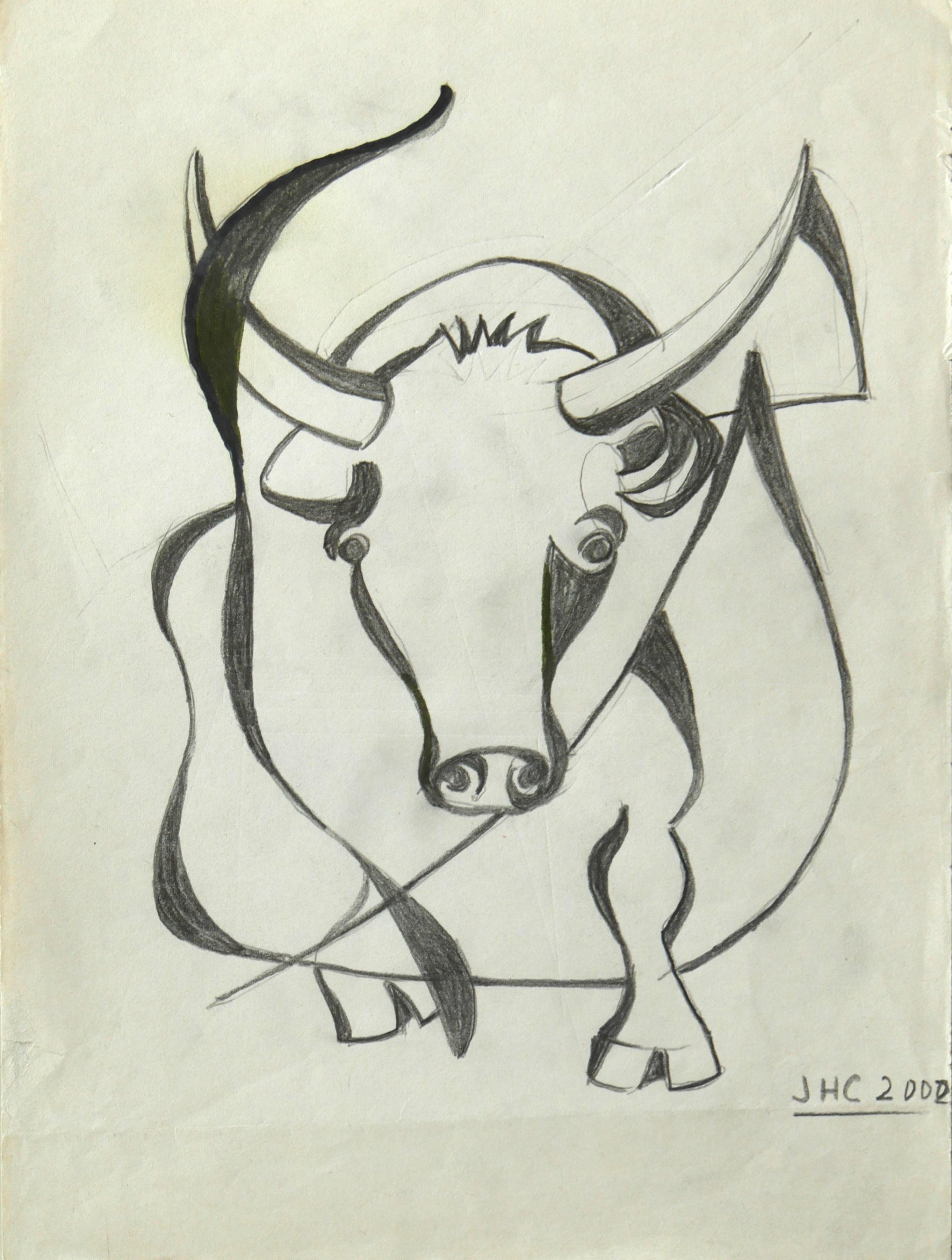 2000.1. Toro. 28 x21 cm. Lápiz. 2000