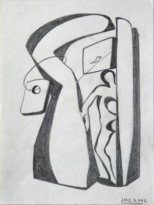 2000.2. Figura atrapada. 28x21 cm. Lápiz. 2000