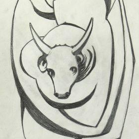 2000.3. Toro. 28x21 cm. Lápiz. 2000