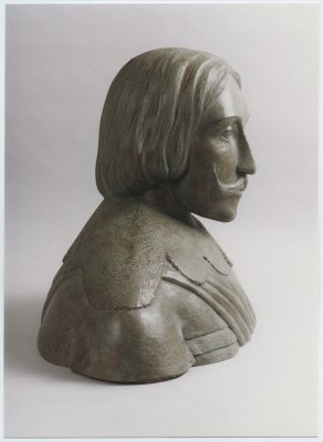 2001.4. Busto del marino Fadrique Álvarez de de Toledo y Mendoza, bronce, mayor del natural, para Escuela Naval de Brasil.2001